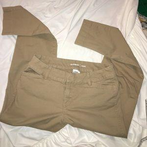 E16 - Old Navy tan khaki jeans